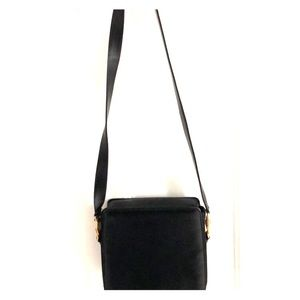 Simple square black Gianni Versace crossbody purse